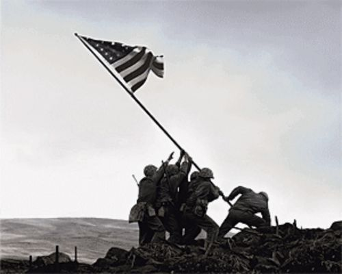 Photo realism: The men who raised the Stars and Stripes on Iwo Jima are the focus of Flags of Our Fathers.