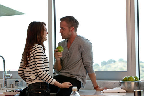 Changing His Ways: Emma Stone and Ryan Gosling star in Crazy, Stupid, Love.