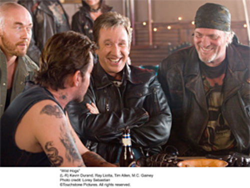 Tim Allen (center) in Wild Hogs