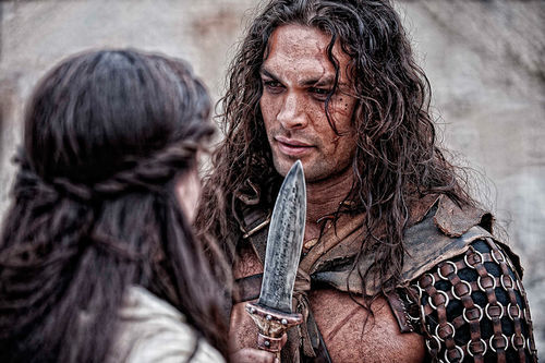 Slice and dice: Jason Momoa is the titular  barbarian in Conan the Barbarian.