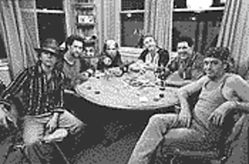 Show us the money: From left, David Spade, Dustin Diamond, Corey Feldman, Danny Bonaduce, Barry Williams and Leif Garrett in Dickie Roberts: Former Child Star.