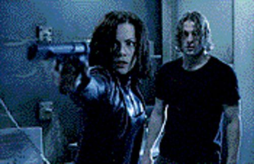 Gloom and doom: Kate Beckinsale and Scott Speedman star in the eerie Underworld.