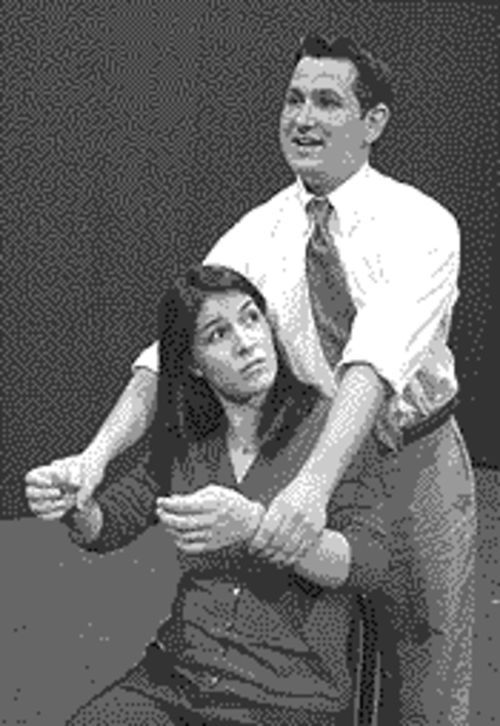 Juliet López as Li�l Bit and Rob Soper as Uncle Peck in How I Learned to Drive.