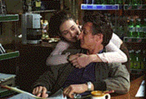 Rough waters: Sean Penn and Emmy Rossum in Mystic River.