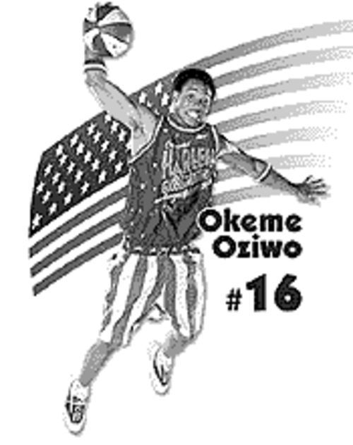 Okeme Oziwo in his Globetrotters days.