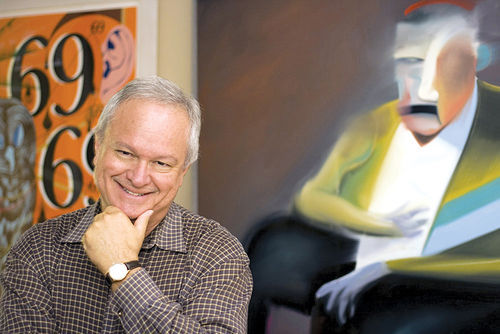 Ted Decker has kept contemporary art alive and well for decades.