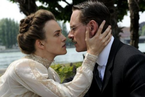 Keira Knightley and Michael Fassbender in A Dangerous Method