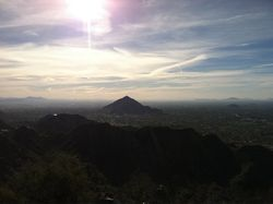 The real summit of Piestewa Peak