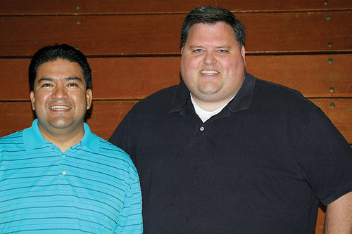 Mormon pals Pablo Felix (left) and Tyler Montague embrace the LDS church's spirit of diversity.