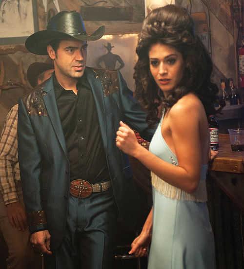 Ron Livingston and Lizzy Caplan star in Queens of Country, filmed on location in Arizona.