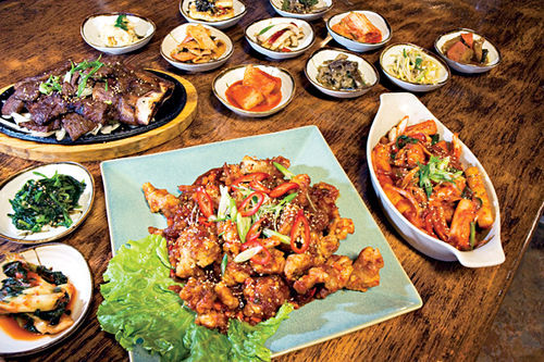 Fantastic Korean food that stays up late makes Cafe Ga Hyang a Valley anomaly.