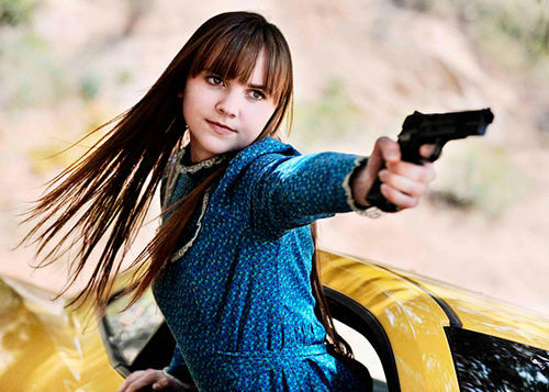 Tara Lynne Barr shoots first in God Bless America.