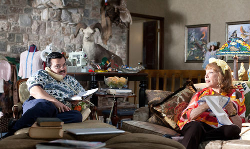 Jack Black and Shirley MacLaine in Bernie.