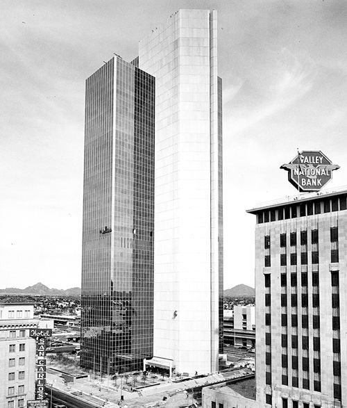 Valley Bank Center (at left, not to be confused with the Professional Building at the right) was completed in 1972.