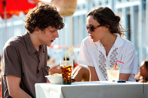 Jesse Eisenberg and Ellen Page star in From Rome with Love.