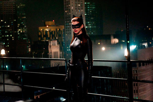 Anne Hathaway stars as Catwoman in The Dark Knight Rises.
