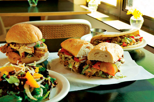 Unique sandwiches and stellar salads make lunchtime the best time at Astor House.