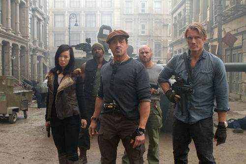 A scene from Expendables 2