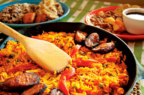 Best shared, the Cuban comfort dish arroz con pollo a la chorrera at Mimita's is worth the wait.