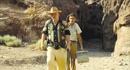 A scene from Paul Thomas Anderson's The Master, starring Philip Seymour Hoffman, Amy Adams, and Joaquin Phoenix.