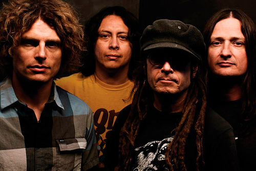 Keith Morris (second from right) of OFF!