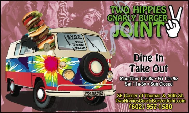 Two Hippies Gnarly Burger