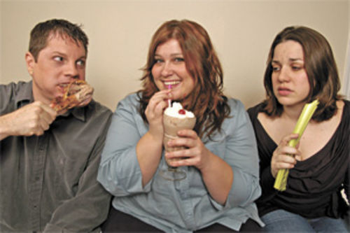 Eat me!: The gals of Diet! go slumming.