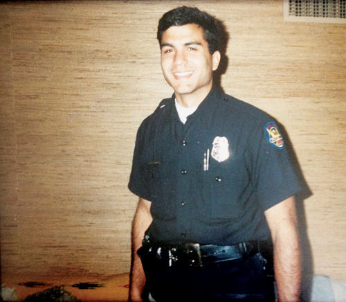 Penzone as a rookie Phoenix cop, circa 1988