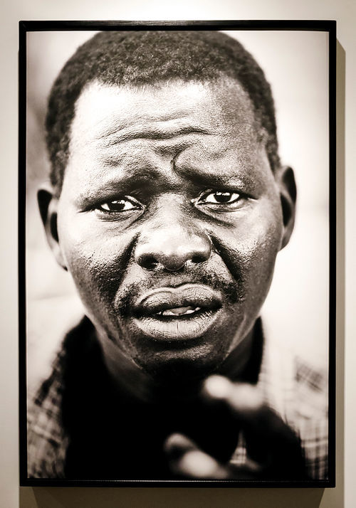 Sudan, an oversize black-and-white gelatin print by Jehu (a.k.a. photographer Jason Grubb