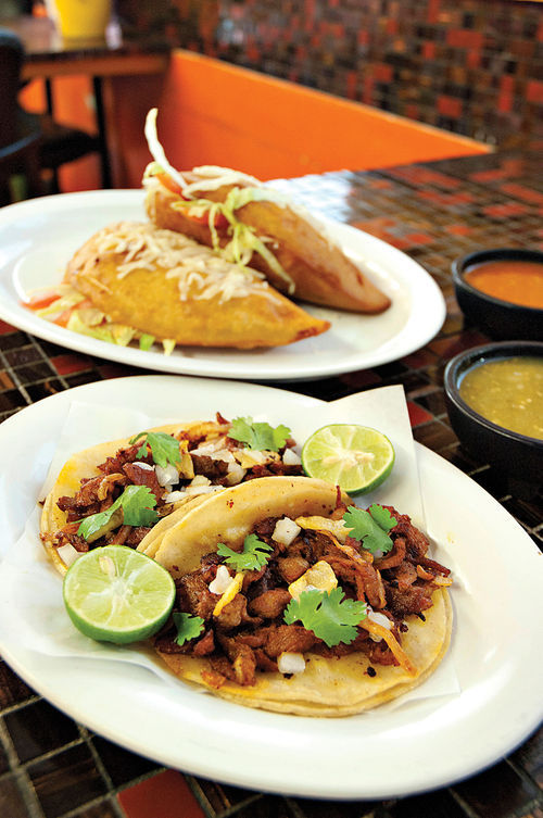 El Chiltepin's street food menu includes tasty standards as well as more offbeat fare.