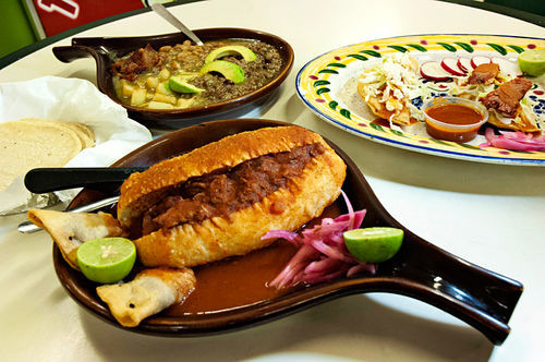 Guadalajaran street eats, like the torta ahogada, are served quick-service-style, at this bustling little eatery in Chandler.
