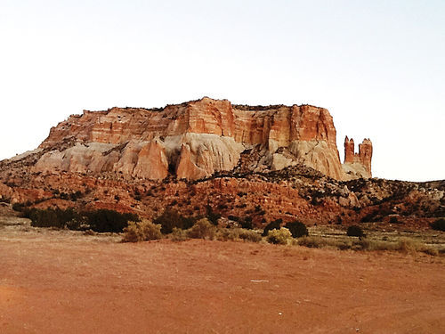 Corn Mountain, a sacred mesa in Pueblo of Zuni