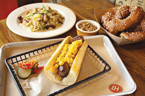 At Brat Haüs, beer may be king, but there are enough good dishes here to keep the taps in good company.
