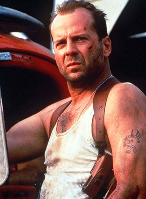 Bruce Willis (left) has played John McClane in five Die Hard movies.