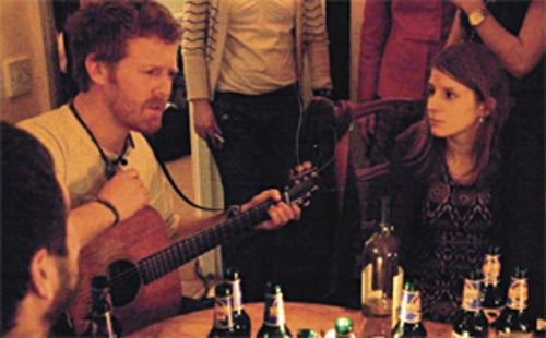 Sweet song: Glen Hansard and Markéta Irglová make a connection in Once.