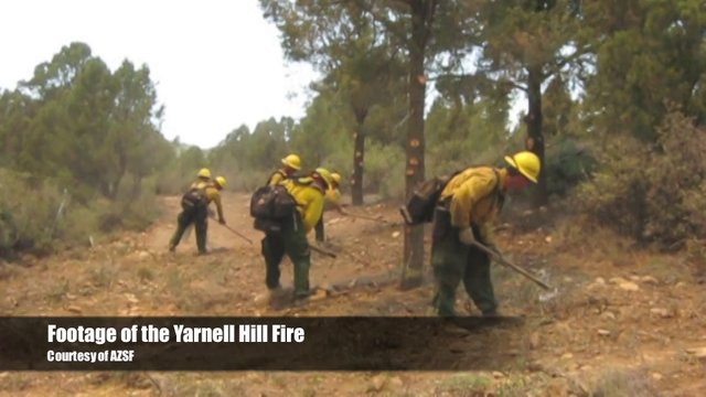 Yarnell Hill Fire Footage