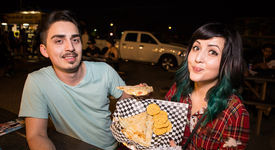 The Food at First Friday in Downtown Phoenix: September 2014.