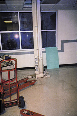 A lab in the Cancer Research Institute after it was shut down and gutted.