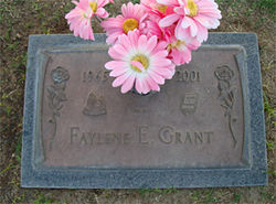 Faylene Grant&#039;s gravestone in Mesa.