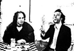 Gab fest: Steven Wright trades barbs with Roberto Benigni in Coffee and Cigarettes.
