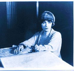 Dorothy Davenport Reid narrates Dollie Wiley's story as Gabe the prostitute in the 1928 film The Red Kimona.