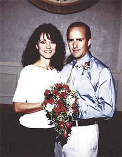 Faylene and Doug Grant on the day of their remarriage, July 27, 2001.