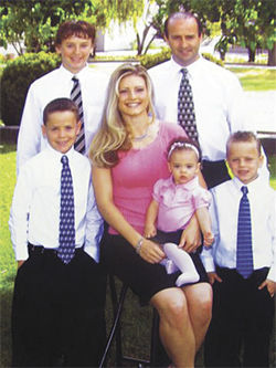Doug Grant, his current wife, Hilary, and their family, including daughter Nevaeh, circa 2005.