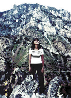 Doug Grant took this photo of Faylene in Utah just one day before she fell off a cliff at the site.