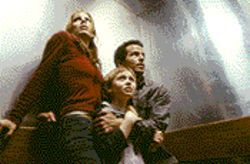 Tooth and nail: Emma Caulfield, Lee Cormie and Chaney Kley battle an evil tooth fairy in Darkness Falls.