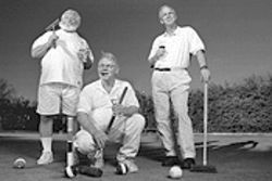 From left, three of the four founding members of the Arizona Croquet Club: Ed Cline, Stan Patmor and Doug Whitneybell.