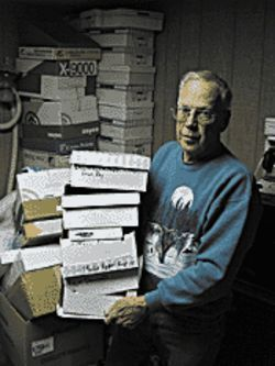 Stepdad Jim Leming's home office in Dover is still  packed with paperwork from Krone's family's fight to  free him.