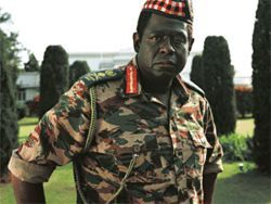 Forest Whitaker is occupied by Idi Amin in The Last King of Scotland.
