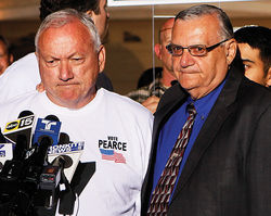 Pearce and his old pal Sheriff Joe Arpaio say sayonara to Pearce's political career.
