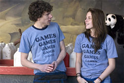 Love in the time of Whac-a-Mole: Jesse Eisenberg and Kristen Stewart play the game in Greg Mottola&#039;s Adventureland.